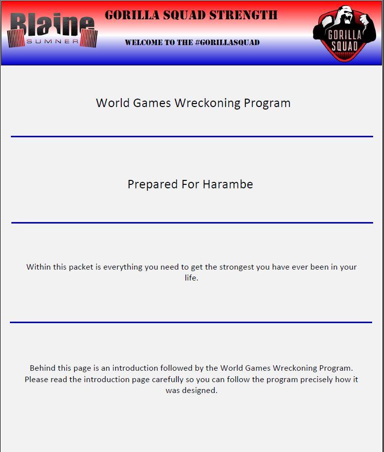 World Games Wreckoning Program 4