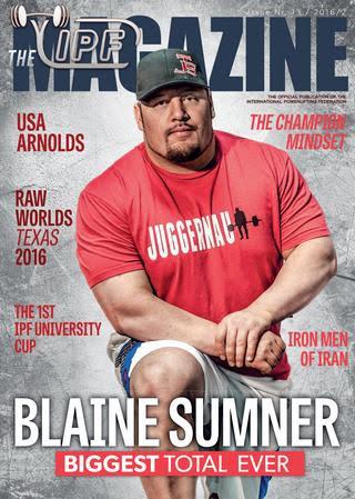 Blaine Sumner IPF Magazine Cover